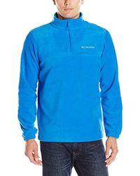 Columbia Steens Mountain Half Zip Soft Fleece Jacket - Blue