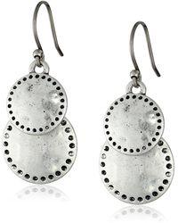 Lucky Brand S Double Drop Earring - Metallic