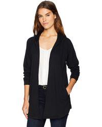 Kensie Drapey Fleece Jacket - Black