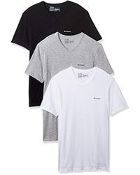 Columbia - 100% Pure Cotton 3 Pk V Neck Tee - Lyst