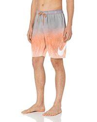 "Nike Rush Ombre Breaker 9"" Volley Short Swim Trunk - Orange"