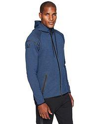 Peak Velocity Amazon Brand - Metro Fleece Full-zip Athletic-fit Hoodie - Blue