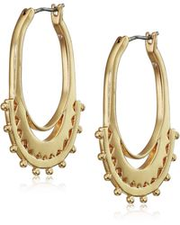 Lucky Brand Sunburst Hoop Earrings - Metallic