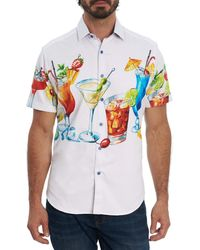 Robert Graham Cocktail Party S/s Woven Shirt - White