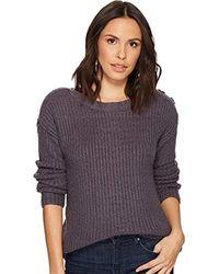 Kensie - Punk Yarn Sweater With Button Detail - Lyst
