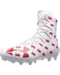 ee2a5dba98e Lyst - Under Armour Men s Ua Highlight Mc Lacrosse Cleats in White ...