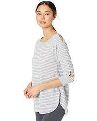 Calvin Klein - Westside Stripe Curved Hem Pullover - Lyst