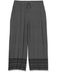 Rafaella Moonstone Geo Print Pull-on Pant - Black