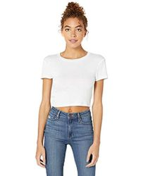 BCBGeneration Cropped Knit Top - White