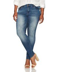 Jones New York Plus Size Madison Slim Denim Jean - Blue