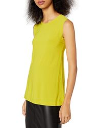 Norma Kamali Sleeveless Swing Top - Yellow