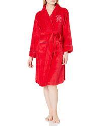 Tommy Hilfiger Plush Robe - Red