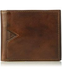 Guess - Leather Slim Bifold Wallet - Lyst