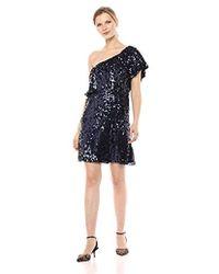 57b62f201e2f BB Dakota - Just Dance Stretch Sequin One Shoulder Dress - Lyst