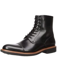 Kenneth Cole Reaction Klay Boot With A Flexible Sole Combat - Black