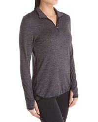 Jockey Active Half Zip Pullover Top - Black