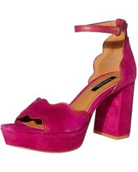 Kensie Womens Platform Dress Sandal,magenta,6.5 M Us - Pink