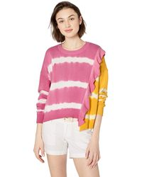 Parker Jorja Asymmetrical Tie Dye Sweater - Pink