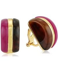 """Trina Turk - """"mulholland Mod"""" Double Sided Domed Clip-on Earrings - Lyst"""