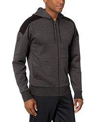 Peak Velocity Amazon Brand - Middleweight Fleece Full-zip Loose-fit Hoodie - Gray