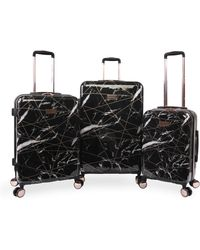 Juicy Couture Vivian 3 Piece Hardside Spinner Luggage Set - Black