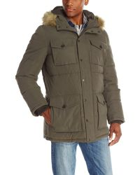 Tommy Hilfiger Micro Twill Full-length Hooded Parka Coat - Green