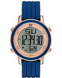 Skechers Rosencrans Mini Quartz Casual Sports Silicone Three-hand Analog Watch - Purple