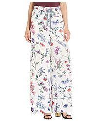BCBGMAXAZRIA Wildflowers Pajama Pant - White