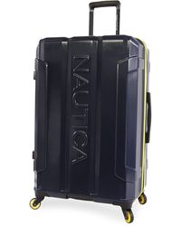 """Nautica Maker Hardside Spinner Check In Luggage 29"""" - Blue"""