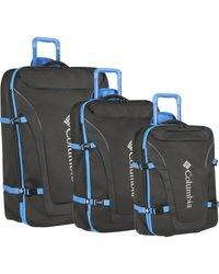 Columbia 3 Piece Expandable Spinner Luggage Set - Blue