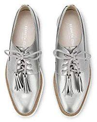 Kenneth Cole Annie Swear Styled Oxford Flat - Metallic