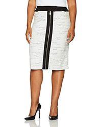 1718cae24c5 Calvin Klein - Plus Size Pencil Skirt With Ponte - Lyst