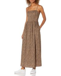 Goodthreads Georgette Smock-Back Cami Maxi Dress Dresses - Marrone