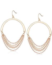 Kenneth Cole - Rose Gold Tone Gypsy Drop Earrings, Blush, One Size - Lyst