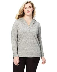 Daily Ritual - Plus Size Cotton Modal Terry Hooded Henley - Lyst