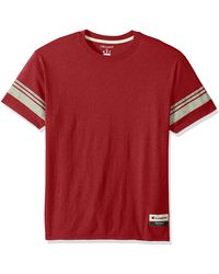 Champion Authentic Originals Tri-blend Short Sleeve Varsity Tee - Red