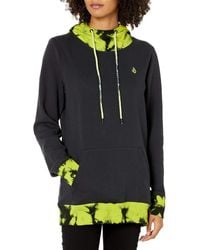 Volcom Costus Pollover Baselayer Hooded Fleece Snow Sweatshirt - Multicolor