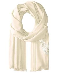 Badgley Mischka - Butterfly Embroidered Solid Wrap - Lyst