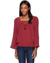 8bd4e2d5b252d Jessica Simpson - Rogan Embroidered Peasant Top - Lyst