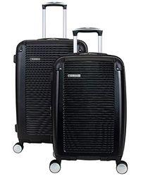 Ben Sherman Lightweight Hardside Pet Expandable 8-wheel Spinner Carry-on Suitcase - Black