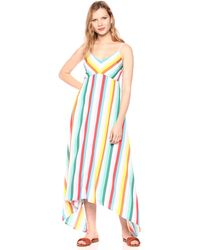 Laundry by Shelli Segal Rainbow Stripe Midi Dress - Blue
