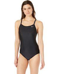 Nike Swim Solid Racerback One Piece Swimsuit - Black