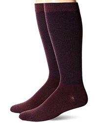 Dr. Scholls American Lifestyle Pin Dot Compression Socks 2 Pair - Purple