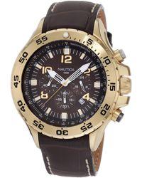 Nautica N18522g Nst Gold-tone Stainless Steel Watch - Metallic