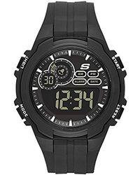 Skechers - Quartz Plastic Casual Watch, Color:black (model: Sr1089) - Lyst
