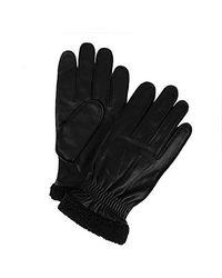 Tommy Hilfiger Leather Gloves - Black