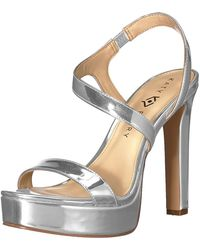 Katy Perry The Naomi-mirror Heeled Sandal Silver 5.5 M Medium Us - Metallic