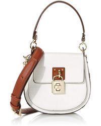 Steve Madden Audra Half Moon Crossbody Bag - White