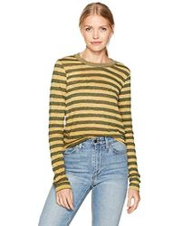 Stateside - Painterly Charcoal Stripe L/s Top - Lyst