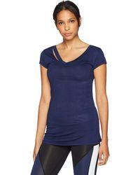 Sam Edelman Ripped Short Sleeve Tee Shirt - Blue
